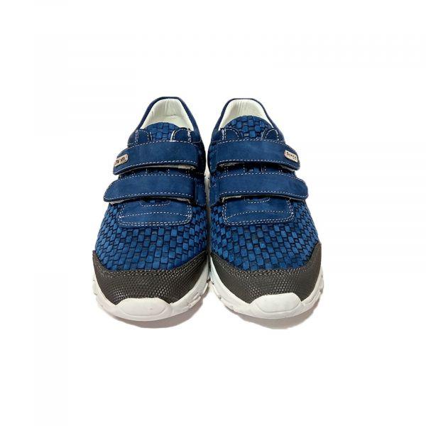 Кроссовки Panda синие с плетеным паттерном 880 F 87.31 36
