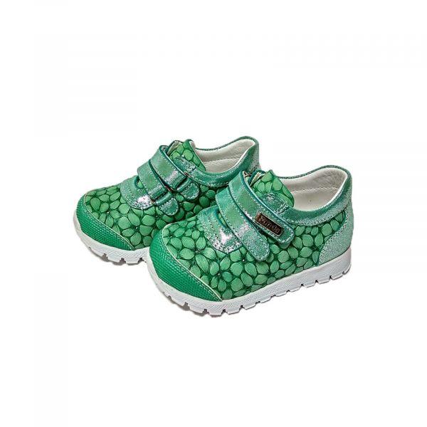 Кроссовки Panda зеленые с цветочным оттиском