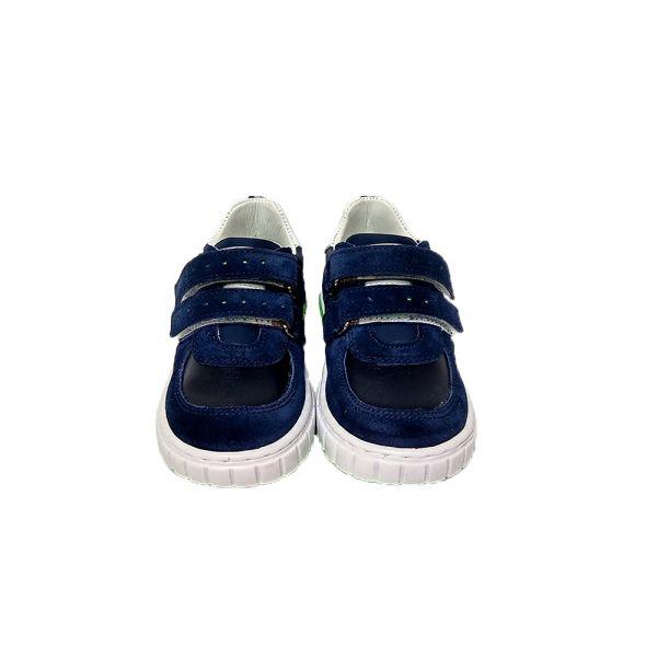 Кроссовки Minimen темно-синие замшевые на  липучках