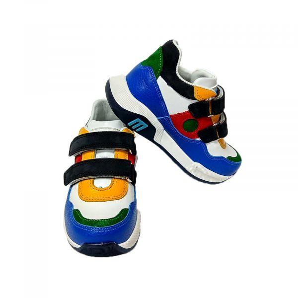 Кроссовки Мinimen разноцветные стильные из натуральной кожи