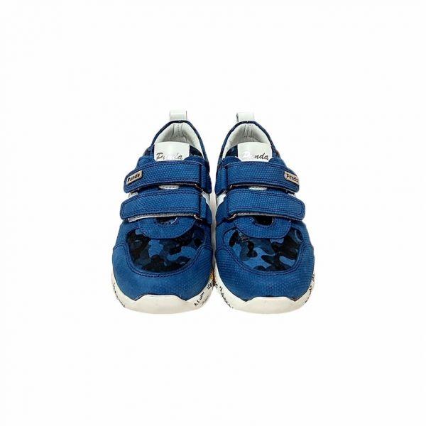 Кроссовки Panda синие на белой подошве 06.02 F 31 36