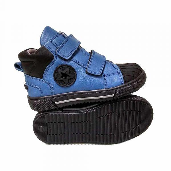 Ботинки Tiflani синие на липучках 18P B-7122S