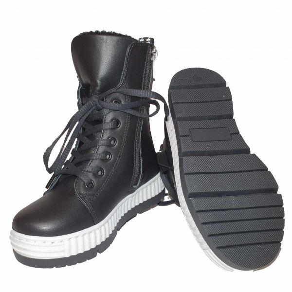 Ботинки Panda Черные на высокой подошве