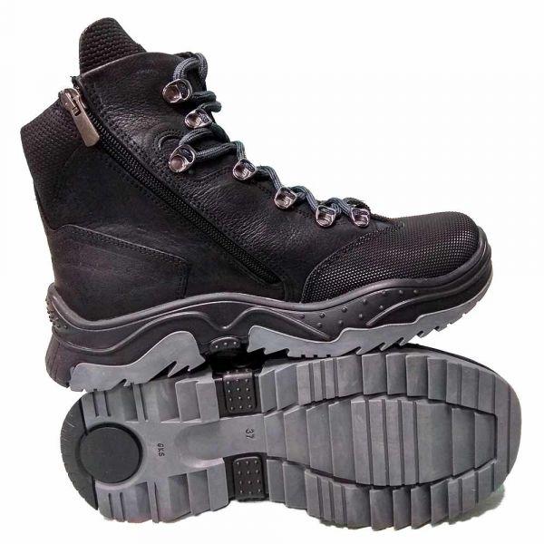 Ботинки Panda черные на шнуровке с супинатором 41.1