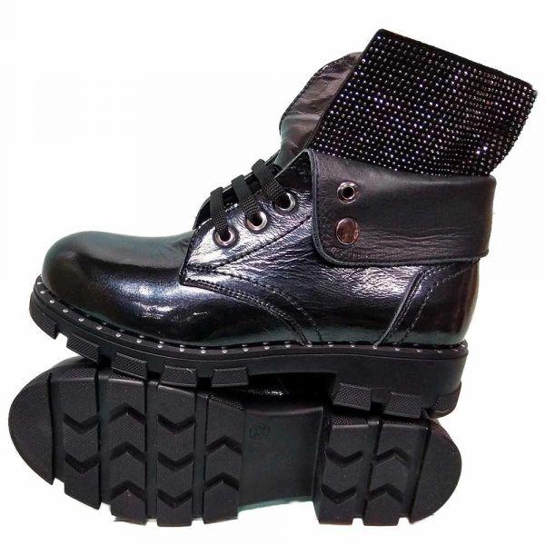 Ботинки Tunel черные зимние из натуральной кожи