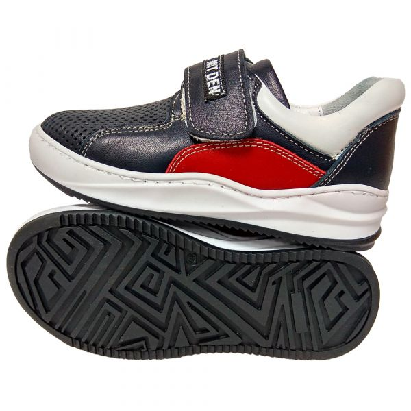 Кроссовки Tomini черно-белые на липучке 5212