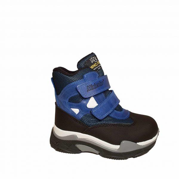 Ботинки Minicolor синие зимние меховые 2591-10