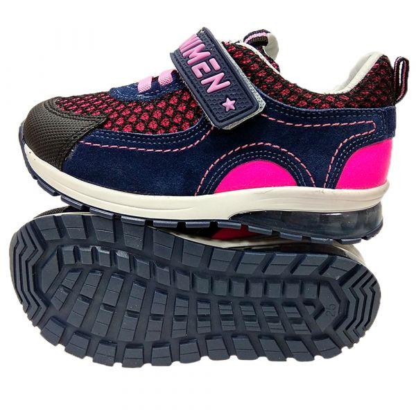 Кроссовки Minimen сине-розовые с радужными фонариками