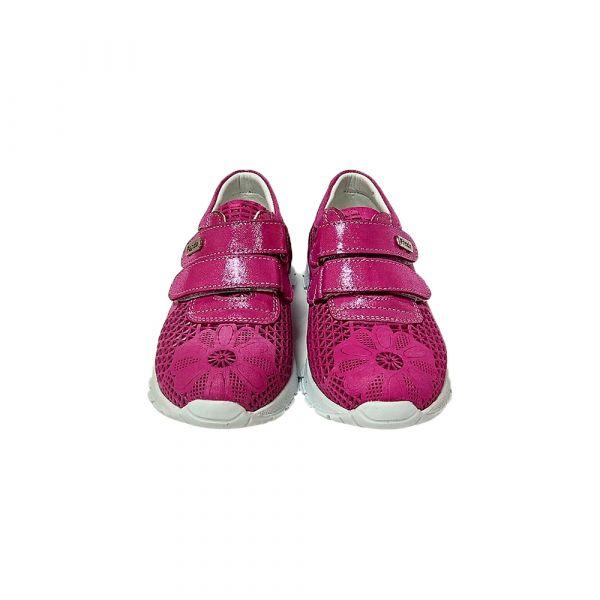 Кроссовки Panda ярко-розовые из натуральной текстурированной кожи