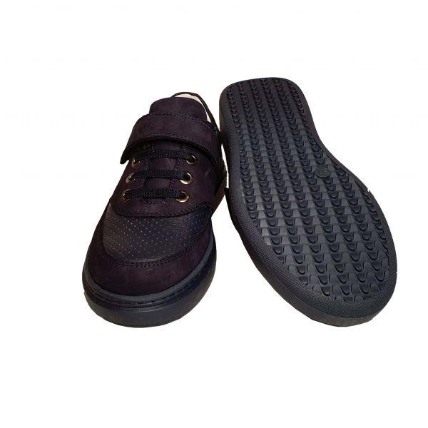 Кроссовки Tunel темно-синие кожаные  (108)