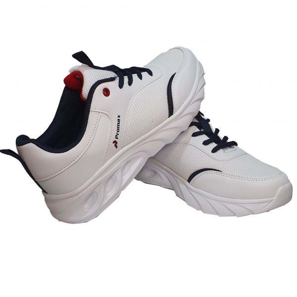 Кроссовки  Promax белые с темно-синими вставками (120)