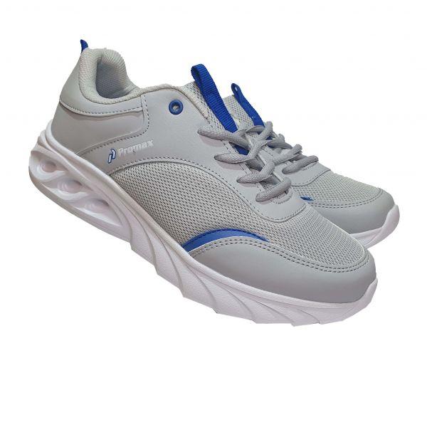 Кроссовки  Promax серые с синими вставками (119)