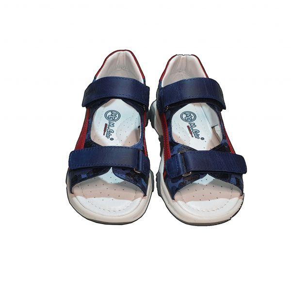 Сандалии Minicolor синие с красными вставками  (114)