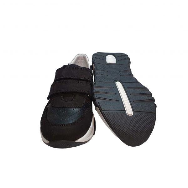 Кроссовки Tunel черные с белыми вставками  (125)