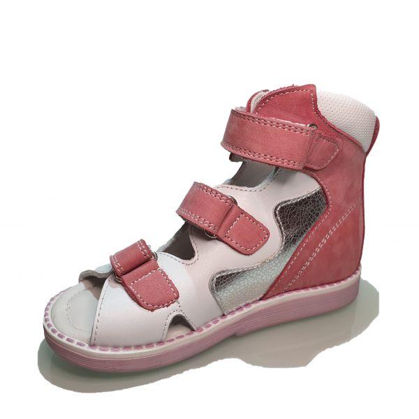 Сандалии Tunel бело-розовые 125-5-9