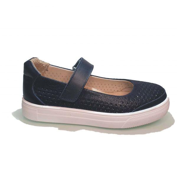 Туфли  Minicolor темно-синие на спортивной подошве