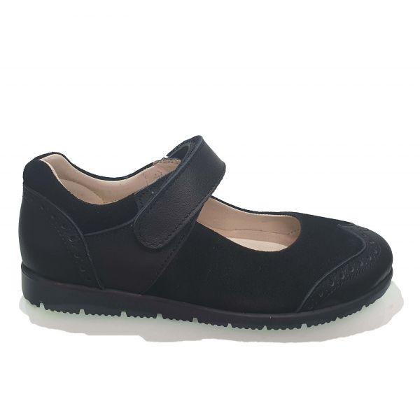 Туфли  Minicolor черные на черной подошве