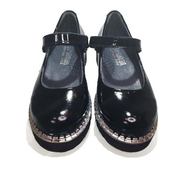 Туфли Tomini черные лакированная кожа