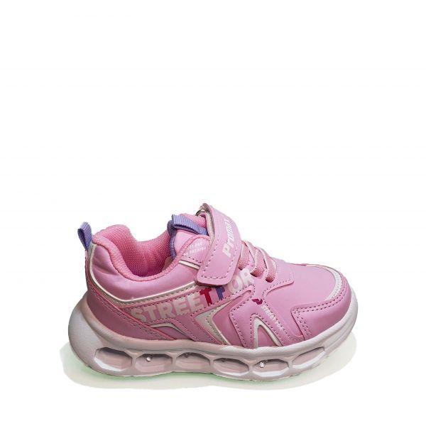 Кроссовки  Promax розовые с разноцветными огоньками