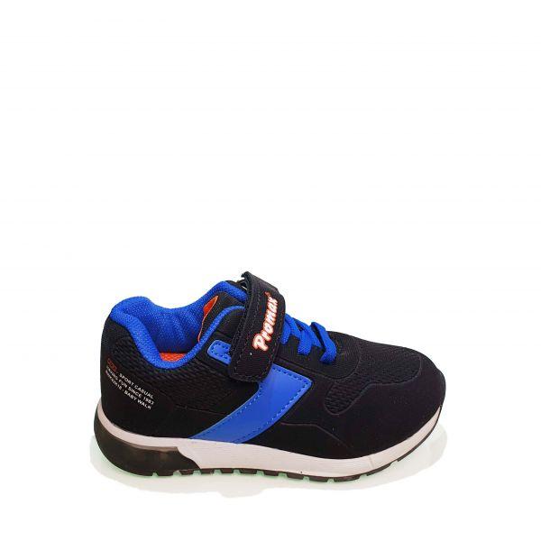 Кроссовк  Promax  черные с синей полосой 501-6