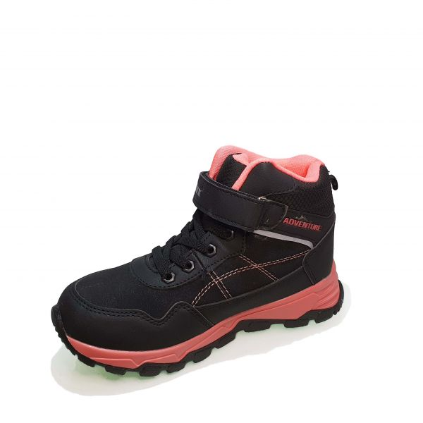 Кроссовки  Promax черные на розовой подошве 1725-9