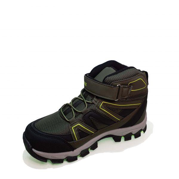 Кроссовки  Promax зеленые высокие 1726-05