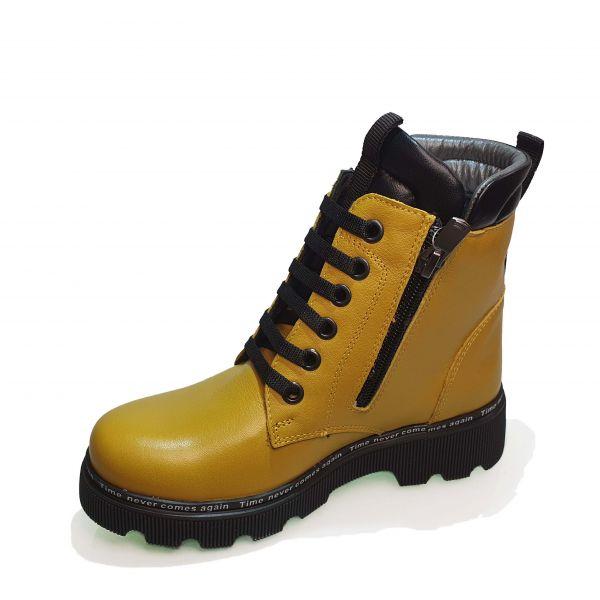 Ботинки  Minicolor горчичные с подвеской 262405