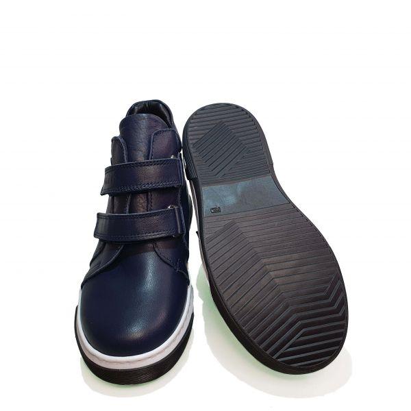 Ботинки Tomini синие на белой подошве 140