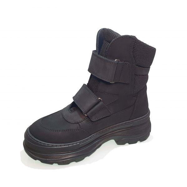 Ботинки Tunel черные высокие матовые 23-1011-2