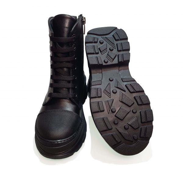 Ботинки Tunel черные высокие с тиснением 23-56-11