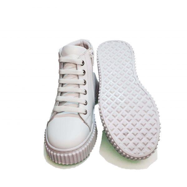 Ботинки Tunel белые на белой подошве 24-90-07