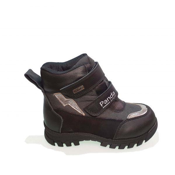 Ботинки Panda черные с серыми вставками 011.0450