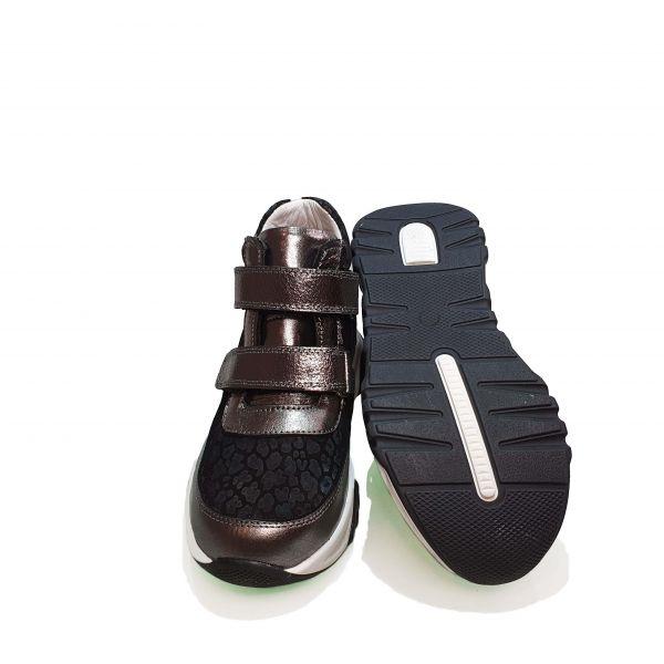 Ботинки Panda серые на белой подошве 001.0001 Р