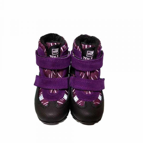 Ботинки Tiflani фиолетовые с прорезиненным мыском на липучках