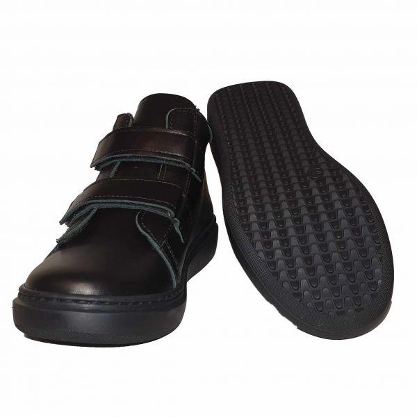Ботинки Panda Черные осенне-весенние экомех