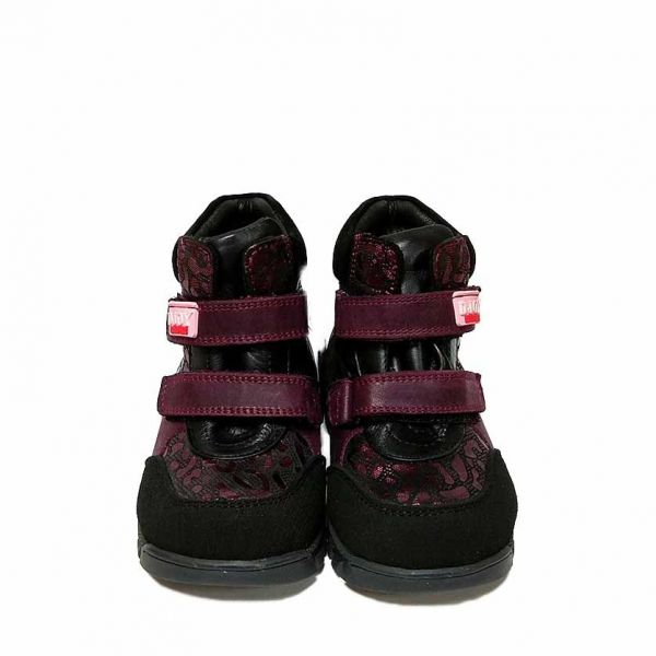 Ботинки Djoy вишневые с красивой отделкой