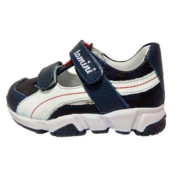 Кроссовки Tomini синие с белыми вставками открытые