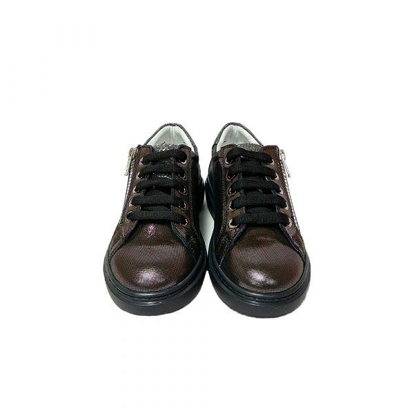 Туфли Tunel темно- серебренные с боковыми молниями