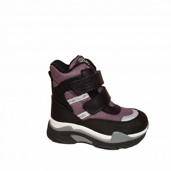 Ботинки Minicolor Бордовые Меховые