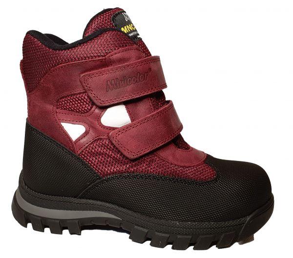 Ботинки Minicolor бордово-теракотовые