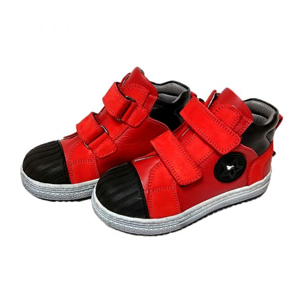 Кроссовки Tiflani ярко- красные высокие