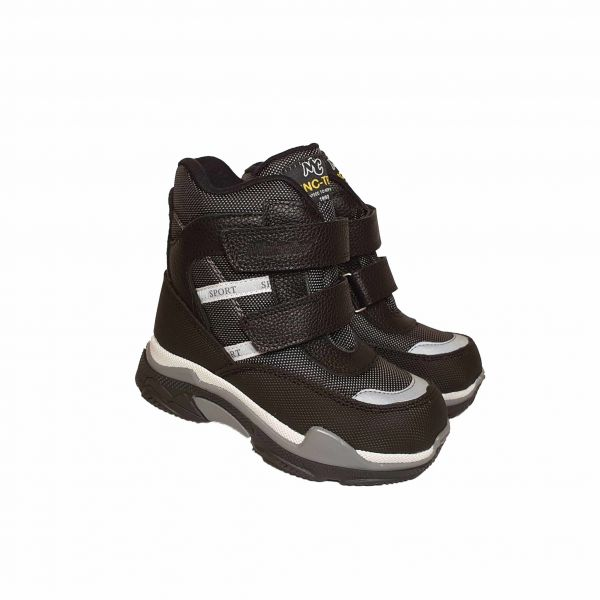 Ботинки Minicolor темно-серые 2590-09