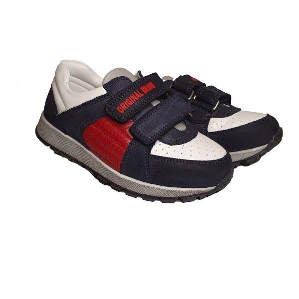 Кроссовки Tiflani темно-синие с цветными вставками