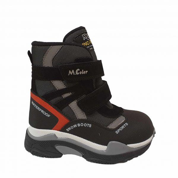 Ботинки Minicolor серые меховые 2542-7