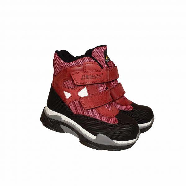 Ботинки Minicolor Бордовые на меху