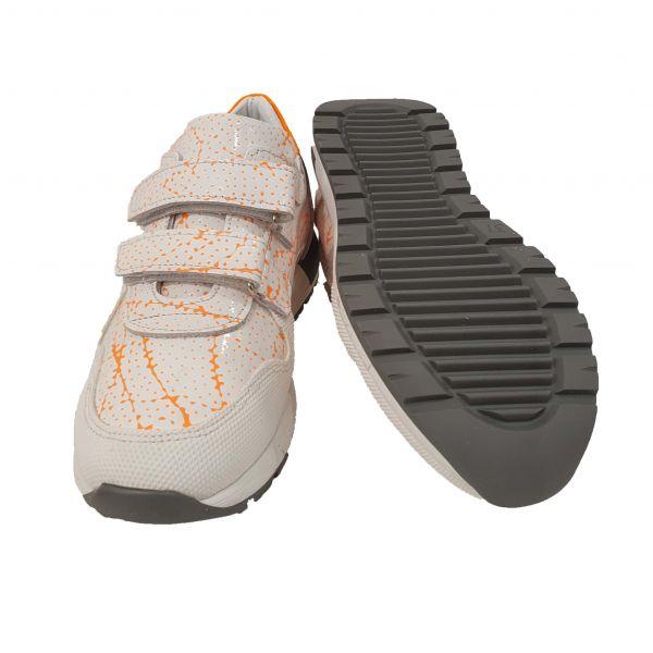 Кроссовки  PANDA белые с лакированной кожи