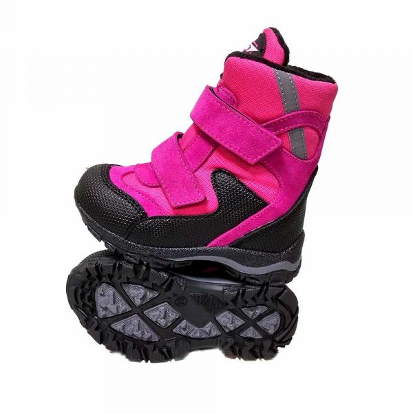 Ботинки Tiflani ярко-розовые с прорезиненным мыском