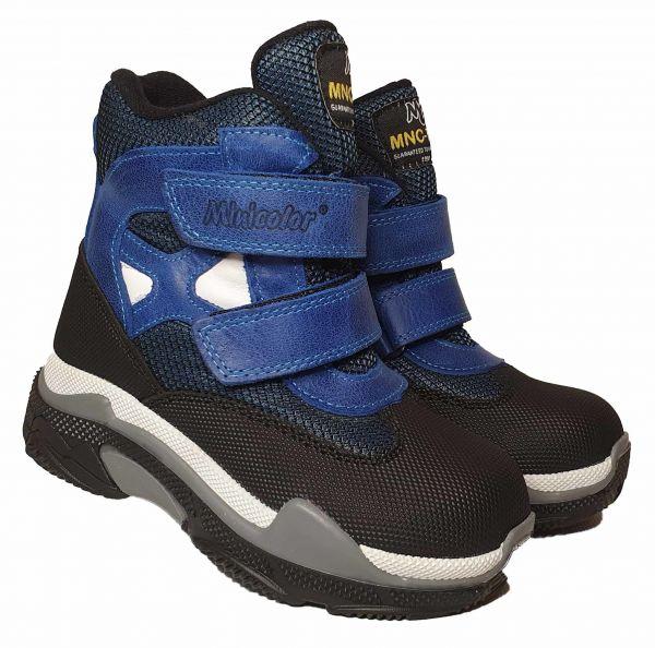 Ботинки Miniсolor синие на две липучки 2591-10