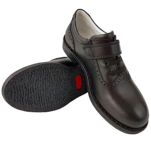 Туфли Tunel черные с липучкой 04-501-1