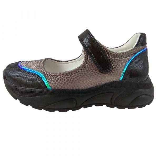 Туфли Tunel темно-серебристые на платформе